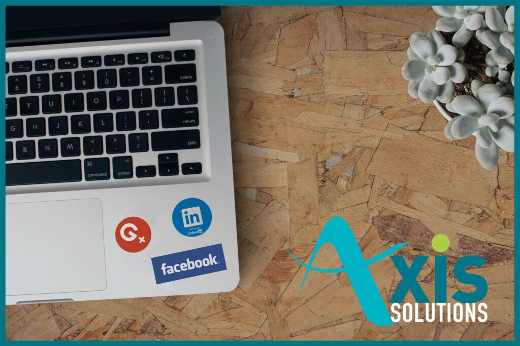 illustration article Axis Solutions présente sur les réseaux sociaux Facebook et Linkedin