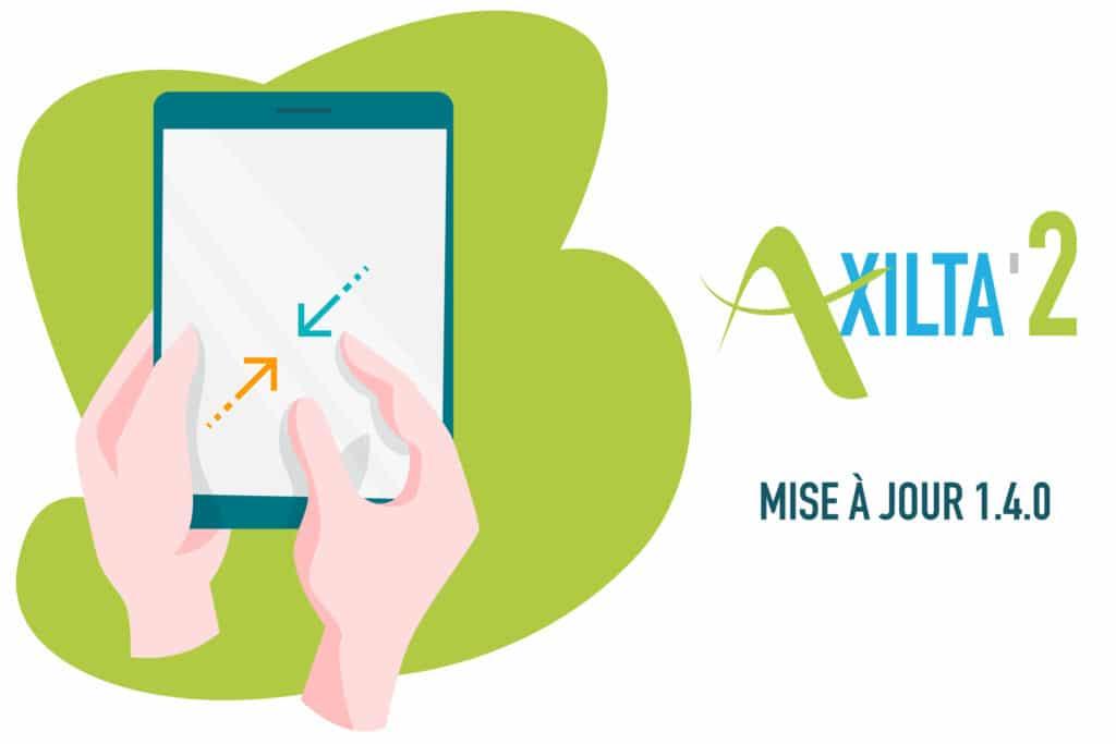 illustration article mise à jour Axilta Mobile appplication