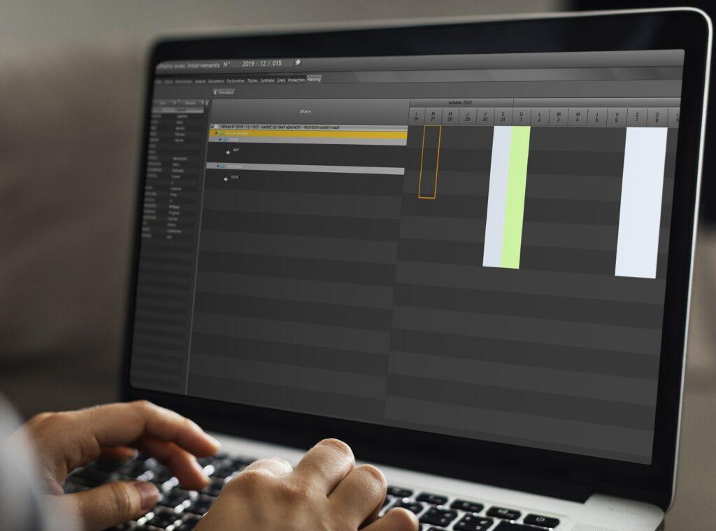 screenshot logiciel gestactiv gestion affaires bureaux etudes
