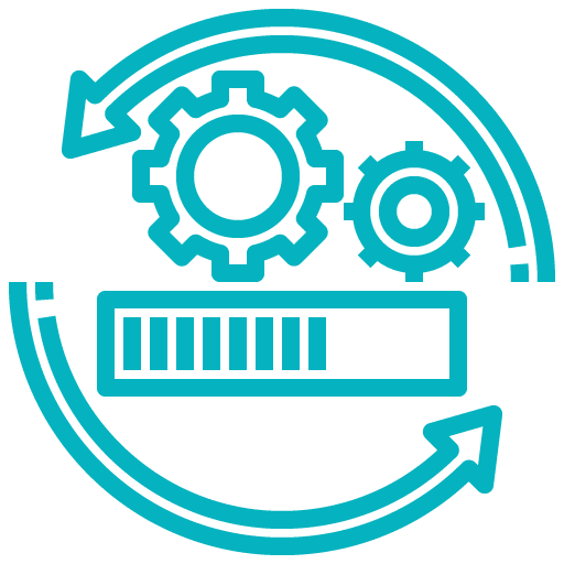 pictogramme maintenance et mises à jour du logiciel de gestion d'affaires Gestactiv