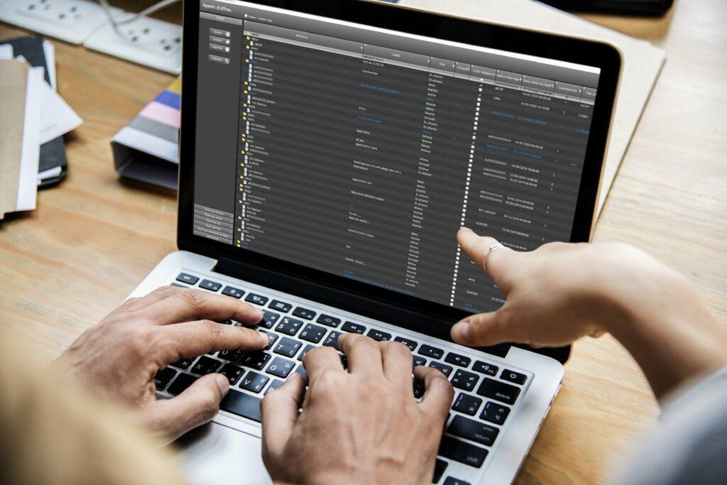 screenshot Gestactiv ERP gestion affaires bureaux études