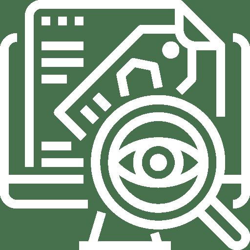 pictogramme audits techniques, logiciels de sécurité, de parc informatique