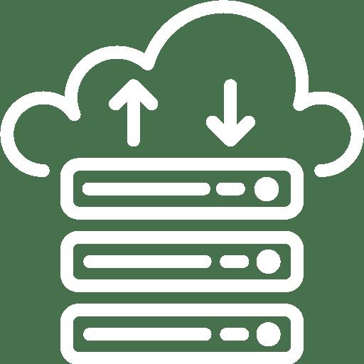 pictogramme mise en place de solutions cloud pour le travail à dsitance