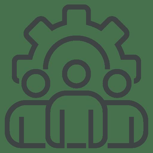 pictogramme gestion des équipes fonctionnalité du logiciel pour la logistique Logis'Team
