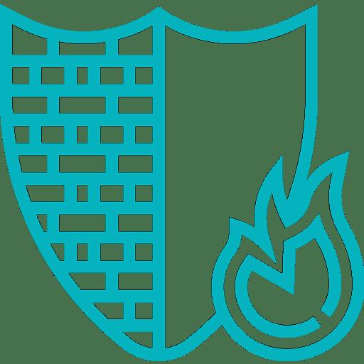 pictogramme installation pare-feu sécurité matériel informatique
