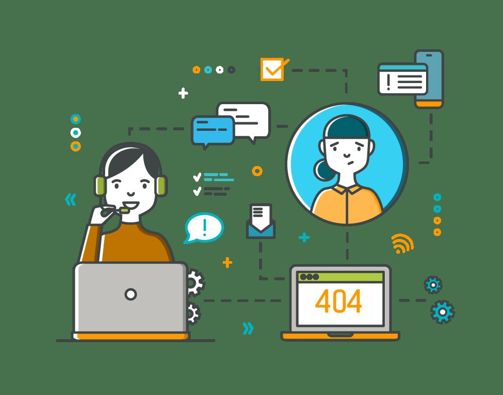 illustration assistance telephonique et telemaintenance gestion parc informatique