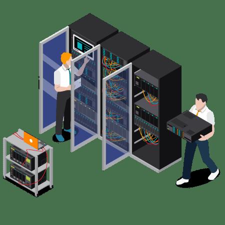 illustration delegation personnel intervention sur site gestion parc informatique