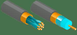 illustration installation fibre et matériel informatique