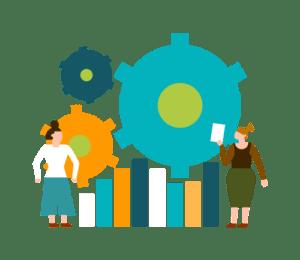 illustration fonctionnalité statistiques logiciel Logis'Team